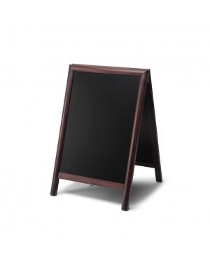 Krijtstoepbord Hout Donkerbruin 55x85 cm