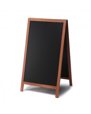 Krijtstoepbord Hout Lichtbruin 68x120 cm