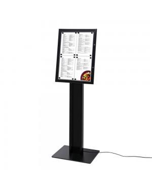 LED-Menubord Staand Zwart Buiten 4xA4
