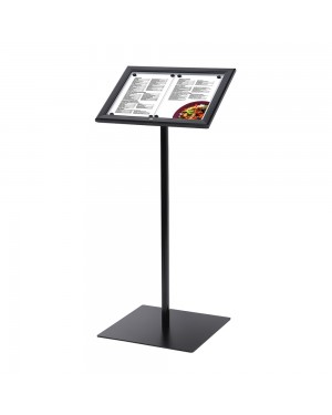 LED-Menubord Staand Zwart