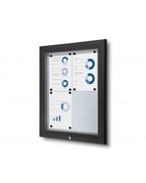 Vitrine Premium Buiten Zwart - 2x2 A4 (44x61,5 cm)