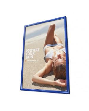 Kliklijst A4 Aluminium Blauw 25 mm Verstek