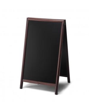 Krijtstoepbord Hout Donkerbruin 68x120 cm