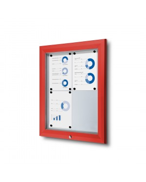 Vitrine Premium Buiten Rood - 2x2 A4 (44x61,5 cm)