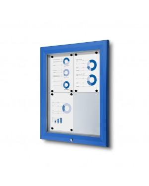 Vitrine Premium Buiten Blauw - 2x2 A4 (44x61,5 cm)