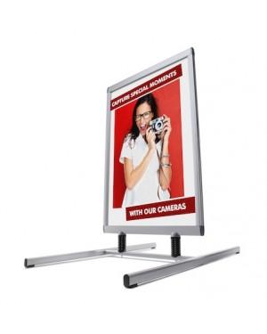 Stoepbord A1 Premium H-Swing Zilver